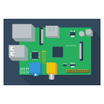 Vector clip art of hardware module for PC