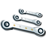 Vector illustration of set of ratchet spanners