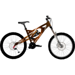 Vector drawing of professional city bike