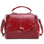 red purse leather