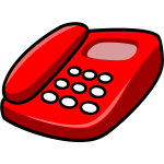 Vector image of red telephone
