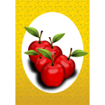 Red apples vector clip art
