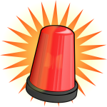 Red signal light vector image