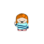 Ginger cartoon girl