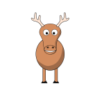 Reindeer cartoon clip art