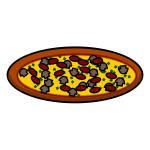 Standard pizza icon