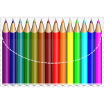 Coloring pencils vector image