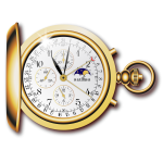 Pocket watch vector drawing