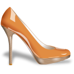 Vector image of woman's shoe