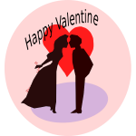 Happy Valentine vector illustration
