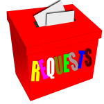 Vector image of requests ballot box