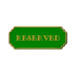 Vector clip art of green reserved plate