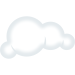 Set of soft clouds