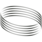 Vector image of oval shaped metal lines with gradient