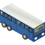 Blue bus vector drawing