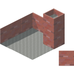 Graphics of 3D of brick chimeney