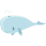 Animated blue whale