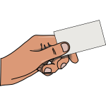 Vector illustration of hand with card