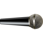 Vector image of photorealistic metal microphone