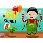 Celebrate 50 clipart vector image