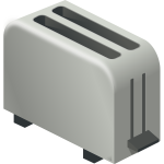 Vector drawing of toaster