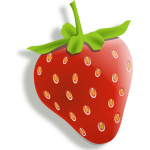 Vector image of shaded strawberry