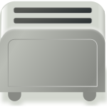 Vector image of simple toaster