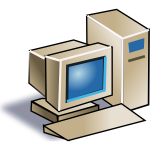 Old style computer vector image