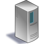 Network server vector image