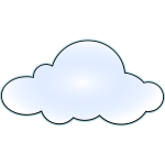 Net wan cloud vector image