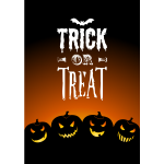 Trick or Treat with Jack-o'-lanterns Card