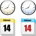 Clock and calendar vector image