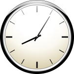 Analogue wall clock vector image