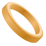 Vector image of wedding band