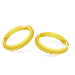 Vector clip art of pair of gold wedding rings