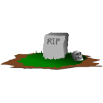 Gravestone with skull vector graphics