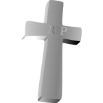 Vector clip art of tombstone
