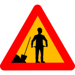 Vector graphics of financial crisis warning road sign