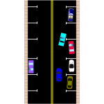 Parallel parking vector graphics