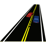 Passing zone vector illustration