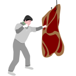 Vector image of a boxer