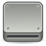 Optical drive vector icon