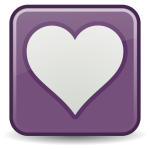 Square heart favorites link vector image