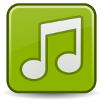 Vector drawing of musical files icon