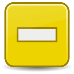 Yellow graphics of computer button - minus