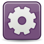 Square gear icon vector clip art