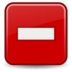 Red illustration of computer button - minus
