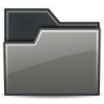 Grey closed folder icon vector drawing