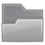 Vector illustration of grayscale folder icon
