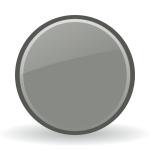 Grey shiny button vector clip art